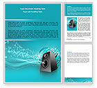 Art & Entertainment: Music Speaker Word Template #06557