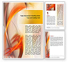 Abstract/Textures: Yellow Swirls Word Template #06558