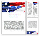America: Proudly Soaring American Flag Word Template #06563