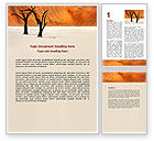 Nature & Environment: Free Desert Trees Word Template #06565