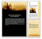 America: Cowboy Rider Word Template #06571