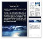 Nature & Environment: Plantilla de Word - cielo sobre el mar #06573