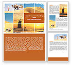 Nature & Environment: Arab Emirates Word Template #06583