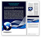 Global: Midnight Blue Globe Word Template #06588