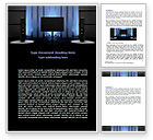 Art & Entertainment: Home Theater Word Template #06592