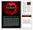 Holiday/Special Occasion: Abstract Heart Word Template #06593
