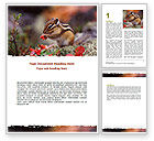 Nature & Environment: Free Chipmunk Word Template #06597