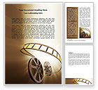 Art & Entertainment: Film Reel In Light Brown Color Word Template #06599