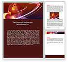 Global: Red Globe In The Ring Word Template #06607