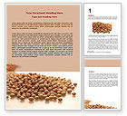 Agriculture and Animals: Soy Beans Word Template #06609