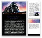 Cars/Transportation: Steam Locomotive Word Template #06610