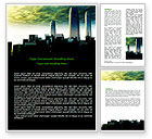 Construction: Futuristic Cityscape Word Template #06613