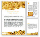 Food & Beverage: Italian Pasta Word Template #06624