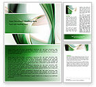 Abstract/Textures: Green with Beige Word Template #06625