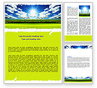 Nature & Environment: Bright Day Word Template #06630