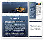 Nature & Environment: Herfstblad Word Template #06633