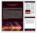Abstract/Textures: Neon Orange Arrow Word Template #06634