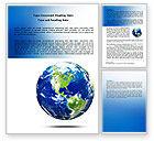 Global: World Globe Word Template #06636