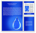 Nature & Environment: Drop Of Water Word Template #06638