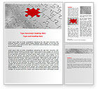 Abstract/Textures: Puzzle Main Piece Word Template #06640