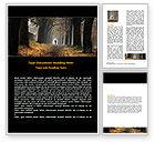 Nature & Environment: Autumn Jogging Word Template #06642