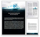 Nature & Environment: Blue Iceberg Word Template #06647