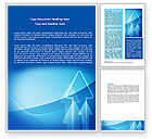 Business: Neon Blue Arrow Word Template #06652