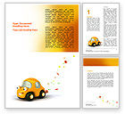 Holiday/Special Occasion: Orange Toy Car Word Template #06656