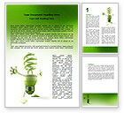Nature & Environment: Energy Save Lamp Word Template #06657