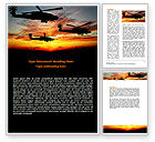 Military: Apache Helicopter AH-64 Word Template #06658