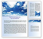 Nature & Environment: Deep Blue Sky Word Template #06659