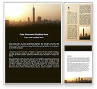 Telecommunication: Sunrise In A Smog City Word Template #06665