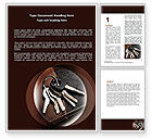 Business Concepts: Bunch Of Keys Word Template #06666