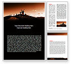 Nature & Environment: Free La Mancha's Windmills Word Template #06670