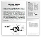 Art & Entertainment: Earphones For Mp3 Player Word Template #06671