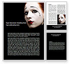Art & Entertainment: Portrait of Mime Word Template #06672