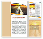 Cars/Transportation: Road To Sunset City Word Template #06674