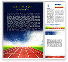 Sports: Race Track Word Template #06677