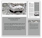 Art & Entertainment: Marmoreal Dragon Word Template #06681