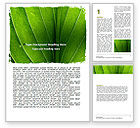 Nature & Environment: Streaks Of Green Leaf Word Template #06686
