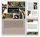 Agriculture and Animals: Raccoon Word Template #06692