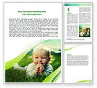 People: Smiling Baby Word Template #06696