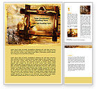 Careers/Industry: Wooden Frame Word Template #06708