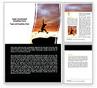 Business Concepts: Jumper On Sunset Word Template #06709