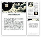 Nature & Environment: Full Moon Word Template #06713