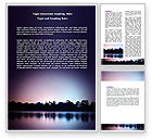 Nature & Environment: Free Purple Twilight Word Template #06715