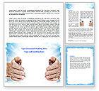 Religious/Spiritual: Heaven Light Word Template #06721