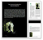 Education & Training: Caver Word Template #06724