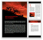 Nature & Environment: Crimson Sunset Word Template #06727