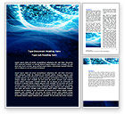 Telecommunication: Stock Photo Flow Word Template #06728